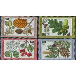 4 عدد تمبر رفاه اجتماعی - درختان - آلمان 1979