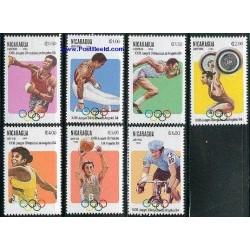 7 عدد تمبر بازیهای المپیک لوس آنجلس - 2 - نیکاراگوئه 1984