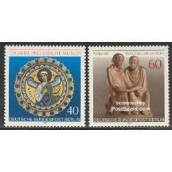 2 عدد تمبر موزه پروسن - آلمان 1980