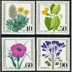 4 عدد تمبر رفاه اجتماعی - گلها - آلمان 1980
