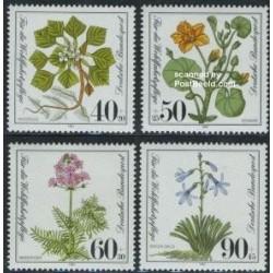 4 عدد تمبر رفله اجتماعی - گیاهان آبزی - آلمان 1981