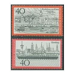 2 عدد تمبر توریسم - آلمان 1973