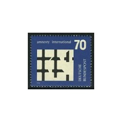 1 عدد تمبر عفو بین الملل  - آلمان 1974