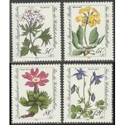 4 عدد تمبر رفاه اجتماعی - گلها - برلین آلمان 1983 قیمت 6.9 دلار