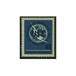 1 عدد تمبر صدمین سال UIT - آلمان 1965