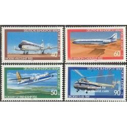 4 عدد تمبر جوانان - هواپیما ها - آلمان 1980