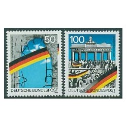 2 عدد تمبر  بازگشائی دیوار برلین - آلمان 1990