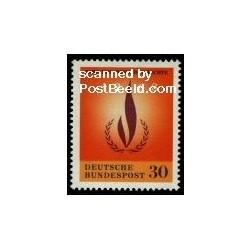 1 عدد تمبر سال بین المللی حقوق بشر - جمهوری فدرال آلمان 1968