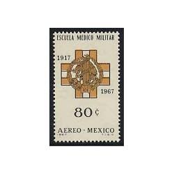 1 عدد تمبر آکادمی نظامی - مکزیک 1967
