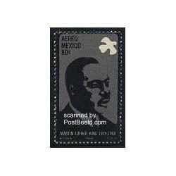 1 ع تمبر مارتین لوتر کینگ - رهبر جنبش حقوق مدنی سیاه پوستان - مکزیک 1968