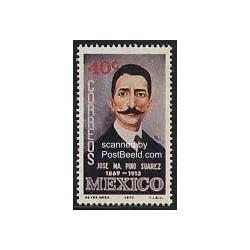 1ع تمبر خوزه ماریو پینو سوارز - سیاستمدار ، شاعر ، روزنامه نگار- مکزیک 1970
