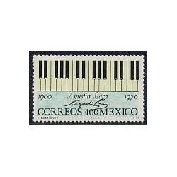 1 عدد تمبر آگوستین لارا - خواننده ، هنرپیشه و ترانه سرا - مکزیک 1971