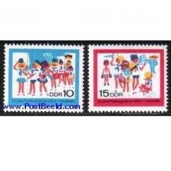 2 عدد تمبر ارنست تالمن - آلمان 1968