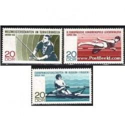 3 عدد تمبر بازیهای ورزشی اروپائی - آلمان 1968