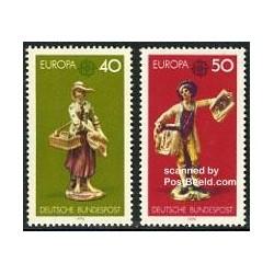 2 عدد تمبر اشیا هنری - Europa Cept - آلمان 1976