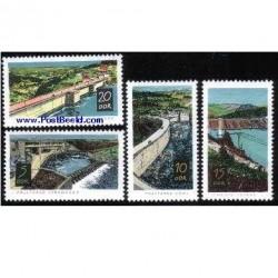 4 عدد تمبر سدها - آلمان 1968