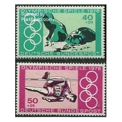 2 عدد تمبر بازیهای المپیک مونترال - آلمان 1976