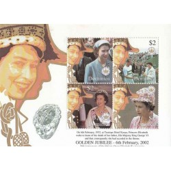 سونیرشیت پنجاهمین سالگرد تولد ملکه - دومنیکا 2002