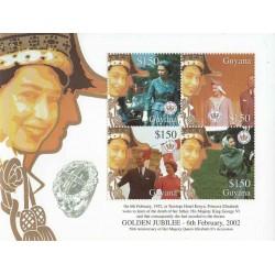سونیرشیت پنجاهمین سالگرد تولد ملکه - گویانا 2002