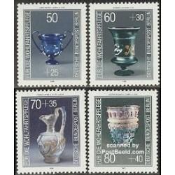 4 عدد تمبر اشیاء هنری - آلمان 1986