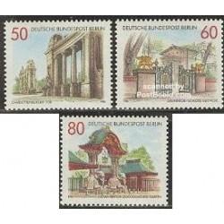 3 عدد تمبر سر درهای برلین - برلین آلمان 1986 قیمت 5.2 دلار