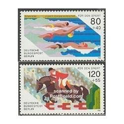 2 عدد تمبر ورزشی - برلین آلمان 1986 قیمت 5.8 دلار