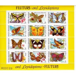 مینی شیت پروانه ها - 1 - رومانی 1992