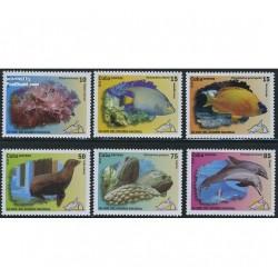 6 عدد تمبر آکواریوم ملی - کوبا 2010