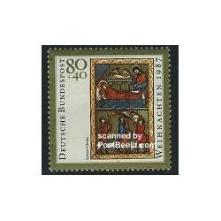 1 عدد تمبر کریستمس - آلمان 1987