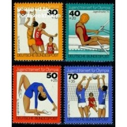 4 عدد تمبر جوانان - بازیهای المپیک - آلمان 1976