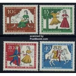 4 عدد تمبر رفاه اجتماعی - افسانه پریان - آلمان 1965