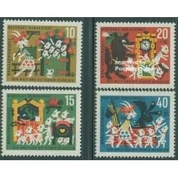4 عدد تمبر رفاه اجتماعی - افسانه پریان - آلمان 1963