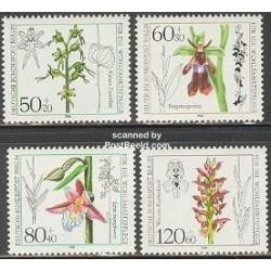 4 عدد تمبر رفاه اجتماعی - گلها - برلین آلمان 1984 قیمت 11 دلار