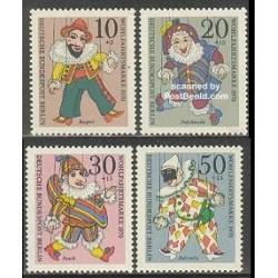 4 عدد تمبر عروسکهای خیمه شب بازی - برلین آلمان 1970