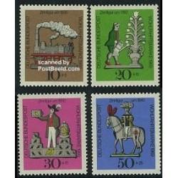 4 عدد تمبر جوانان - اسباب بازیهای حلبی - آلمان 1969