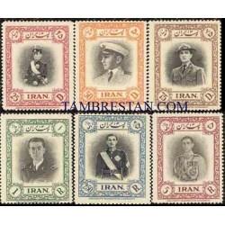865 - 6 عدد تمبر سی و یکمین سال تولد محمد رضا پهلوی 1329 تک