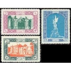 977 - 3 عدد تمبر پنجاهمین سال مشروطیت ایران 1334 تک