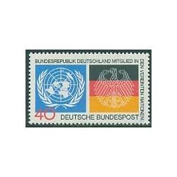 1 عدد تمبر یادگاری سازمان ملل - آلمان 1973