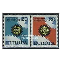 2 عدد تمبر مشترک اروپا - Europa Cept - آلمان 1967