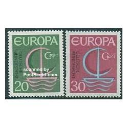 2 عدد تمبر مشترک اروپا - Europa Cept - آلمان 1966