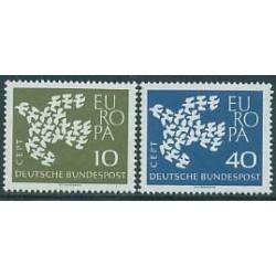 2 عدد تمبر مشترک اروپا - Europa Cept - آلمان 1961