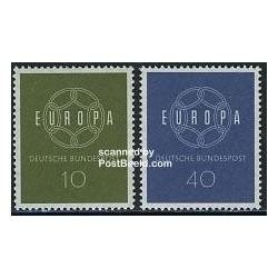 2 عدد تمبر مشترک اروپا - Europa Cept - آلمان 1959