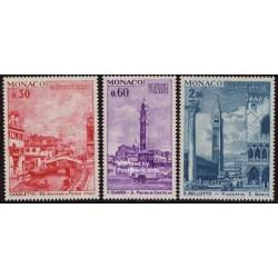3 عدد تمبر تابلو - حفاظت از ونیز - موناکو 1972