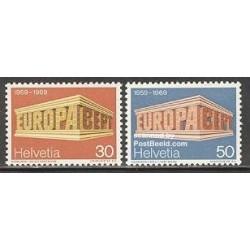 2 عدد تمبر مشترک اروپا - Europa Cept - سوئیس 1969