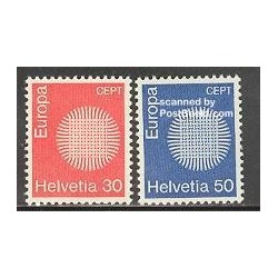 2 عدد تمبر مشترک اروپا - Europa Cept - سوئیس 1970