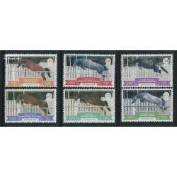 6 عدد تمبر اسبها در حال پرش - کوبا 2014
