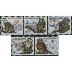 5 عدد تمبر جغدها - چک اسلواکی 1986 قیمت 8.4 دلار