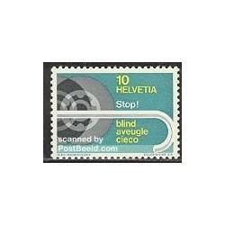 1 عدد تمبر پیشگیری از نابینائی - سوئیس 1967