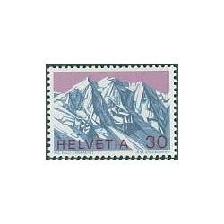 1 عدد تمبر رشته کوههای آلپ - سوئیس 1970