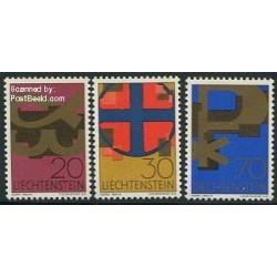 3 عدد تمبر نمادهای مذهبی - لیختنشتاین 1967